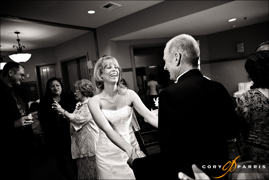 bride and groom dancing by cory parris a wedding photojournalist in seattle