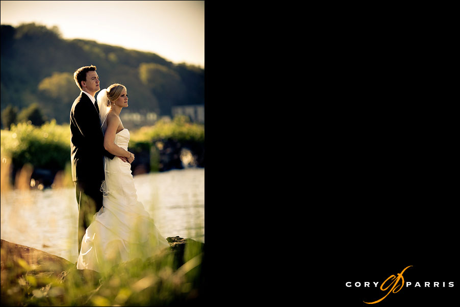 water grass and wedding couple by seattle wedding photographer cory parris