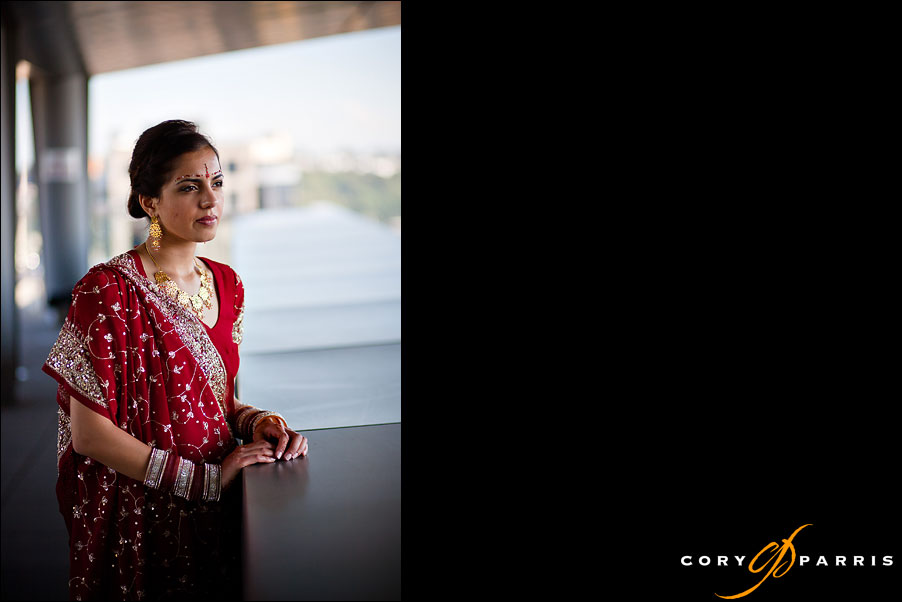 indian bride on a seattle rooftop by seattle wedding photographer cory parris
