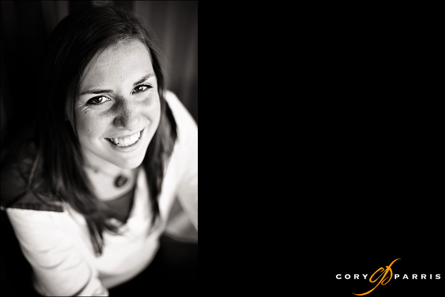 portrait of a senior girl by seattle photographer cory parris