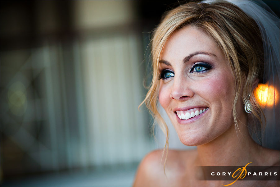 portrait of a bride by seattle wedding photographer cory parris