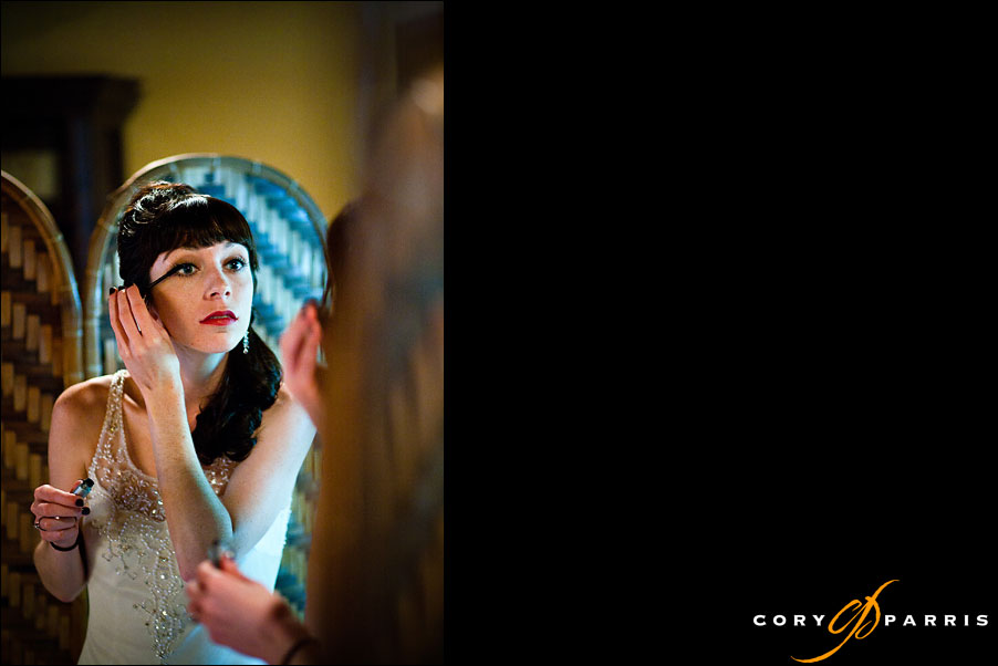 bride getting ready at georgetown ballroom by wedding photographer in seattle cory parris