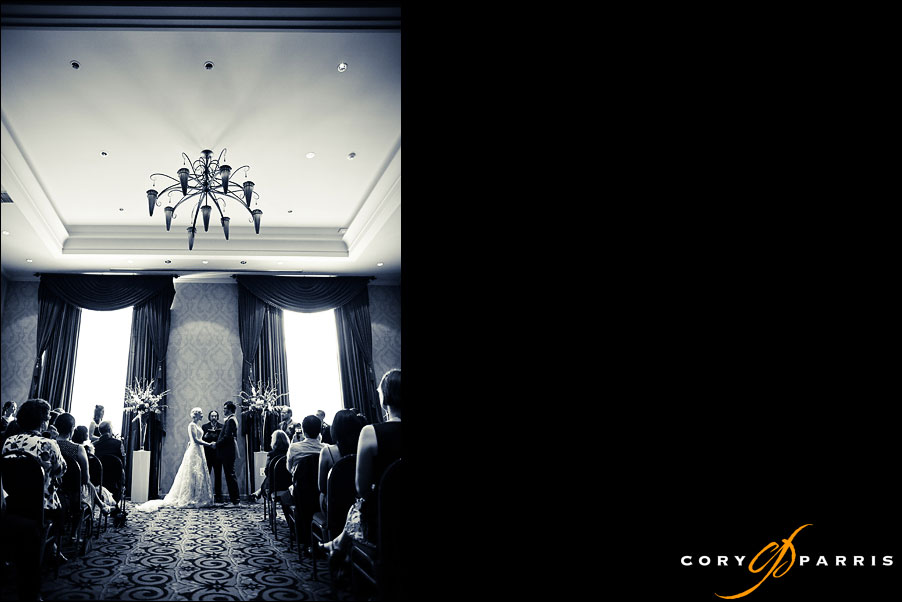 wedding ceremony at the hotel deca in seattle by seattle wedding photographer cory parris