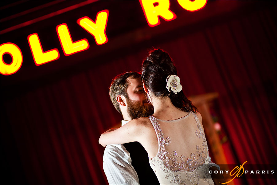 first dance by seattle wedding photographer cory parris at the georgetown ballroom