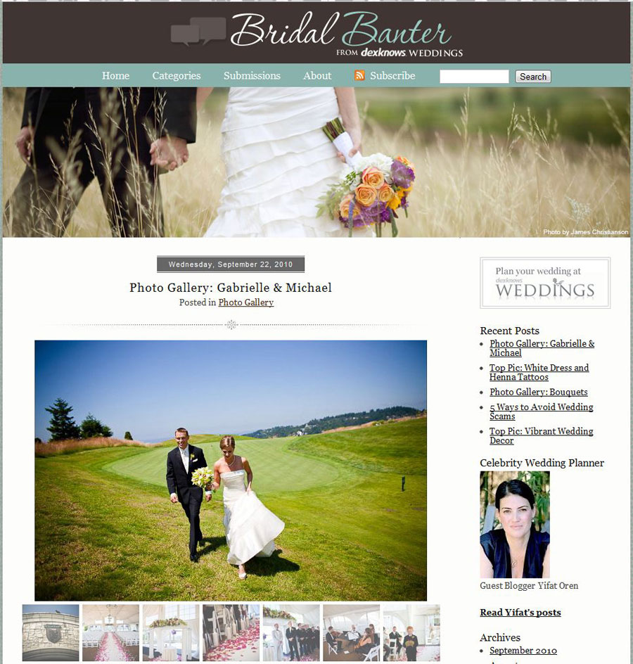 seattle wedding photographer cory parris featured on bridal banter blog by dexknows