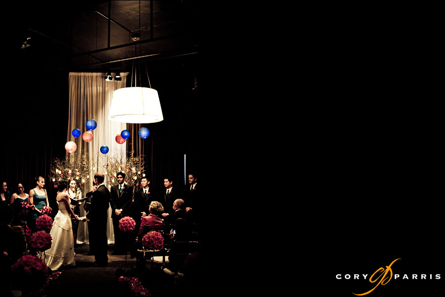 wedding ceremony at the palace ballroom by seattle wedding photographer cory parris