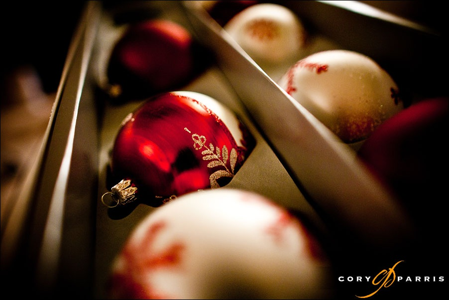 holiday christmas ornaments by seattle wedding photographer cory parris