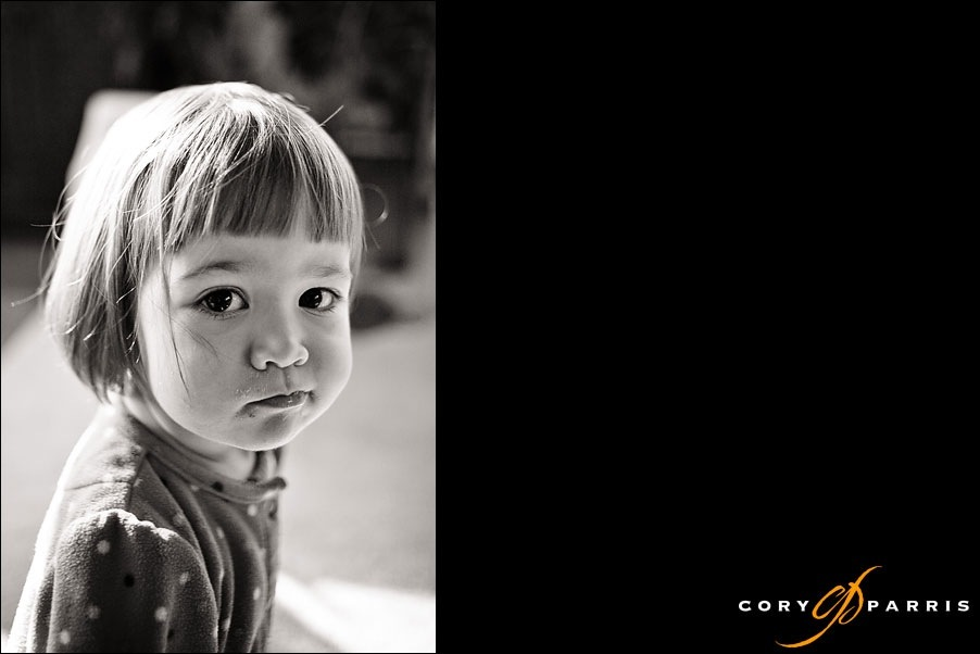 cute little girl by seattle portrait photographer cory parris