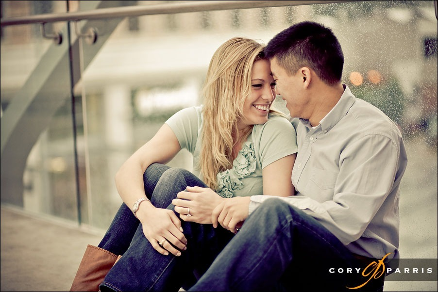 couple laughing together engagement portrait by cory parris photography