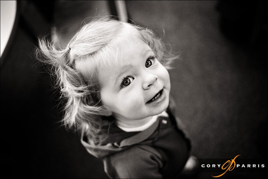 portrait of a toddler looking up by seattle portrait photographer cory parris