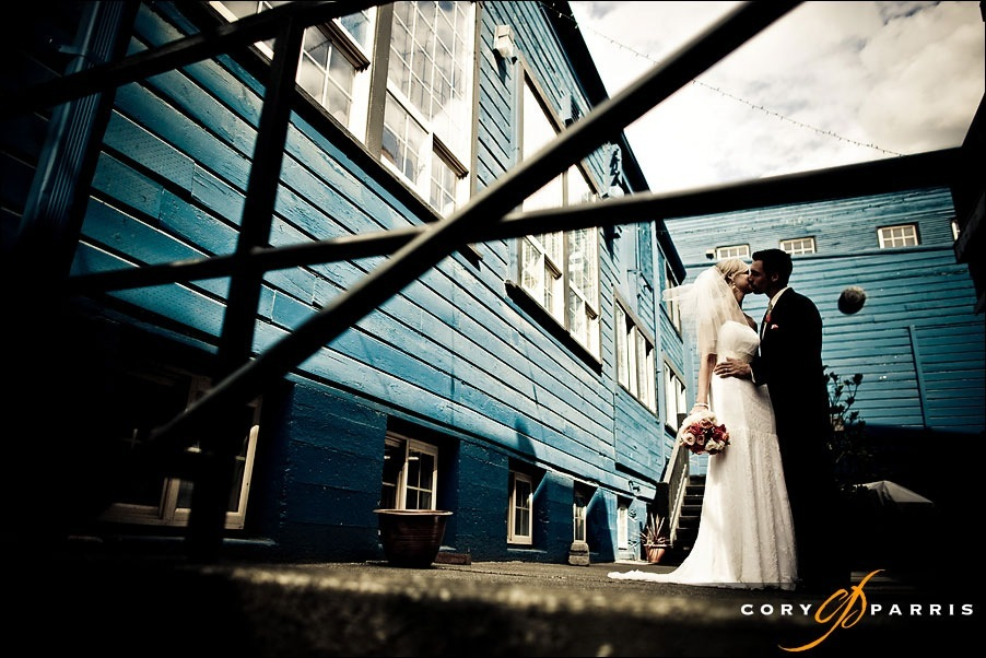 wedding photograph at SODO Park by Herban Feast in Seattle made with a 24mm 1.4L by photographer cory parris