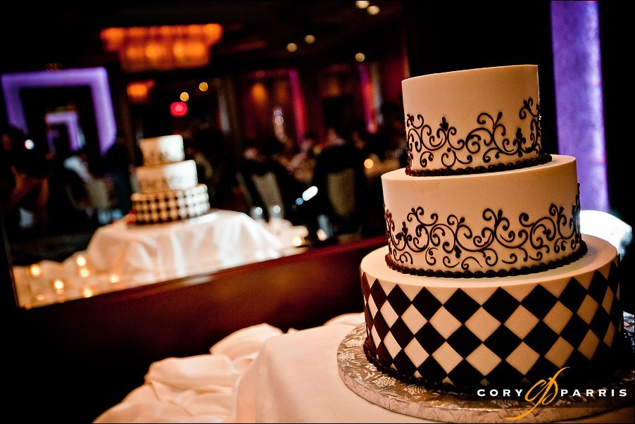 wedding cake by seattle wedding photographer cory parris