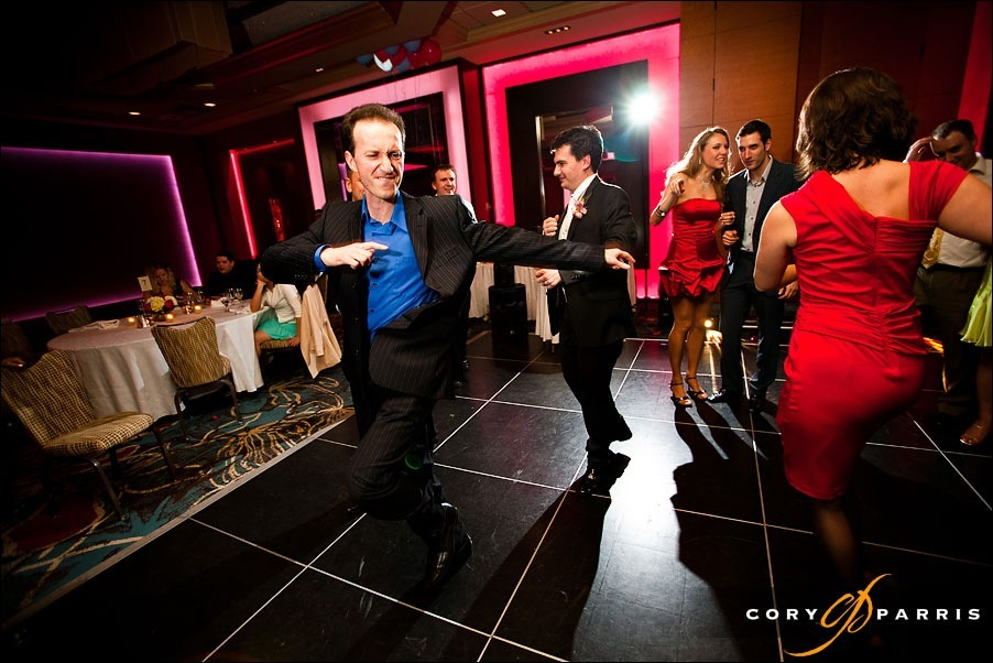 wedding guests dancing by seattle wedding photographer cory parris