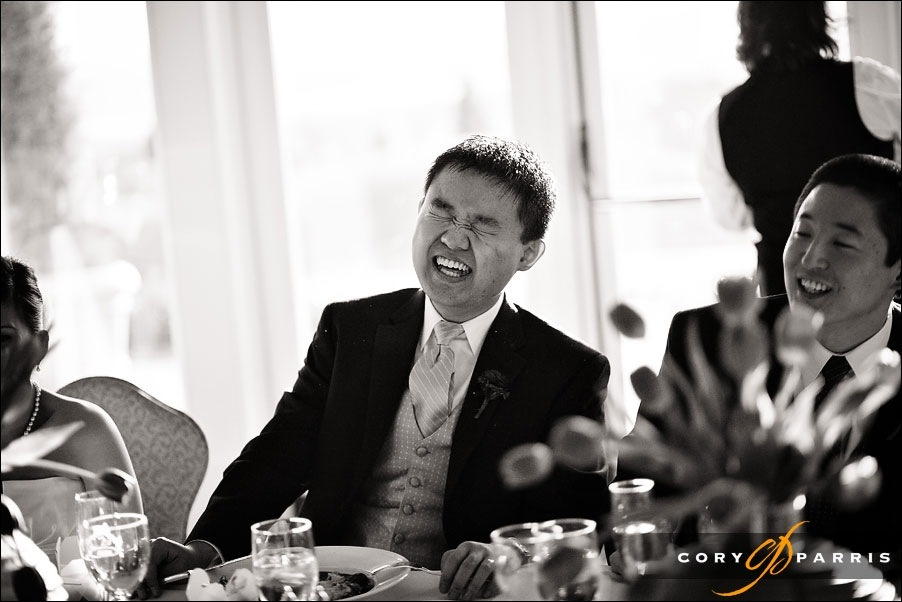groom laughing at the newcastle golf club