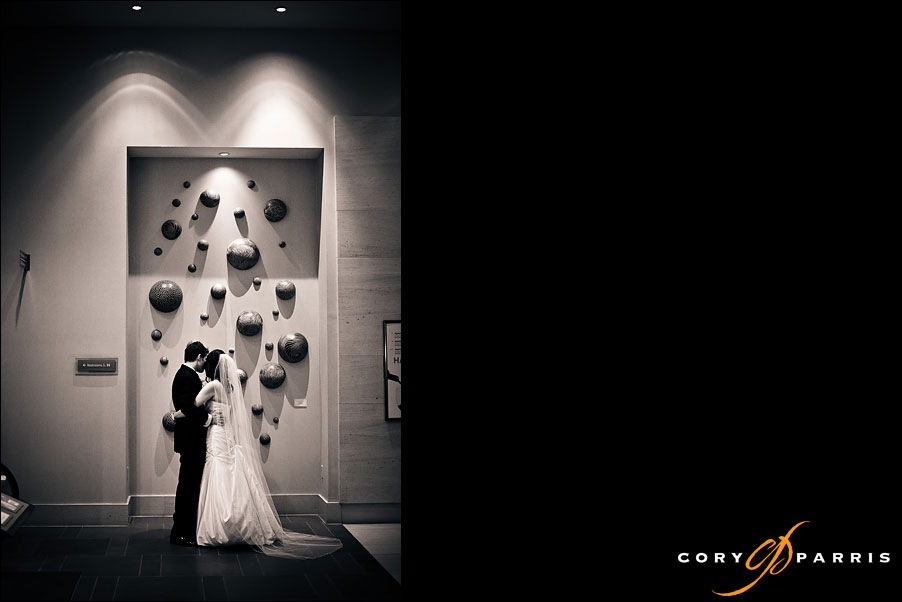bride and groom at the Westin in Bellevue by bellevue wedding photographer cory parris