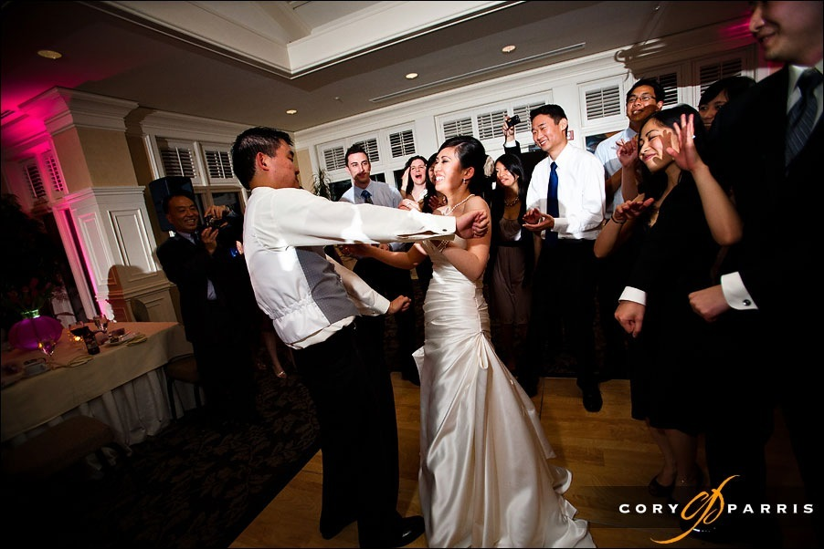 bride and groom dancing by seattle wedding photographer cory parris