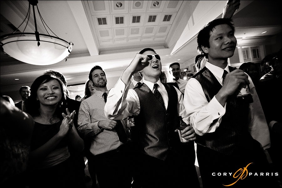 groomsmen cheering at newcastle wedding