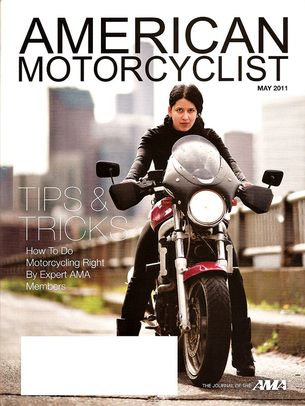 cover of american motorcyclist by seattle photographer cory parris