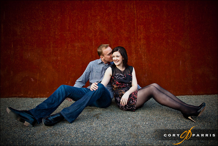 couple portrait at the olympic sculpture park by seattle photographer cory parris