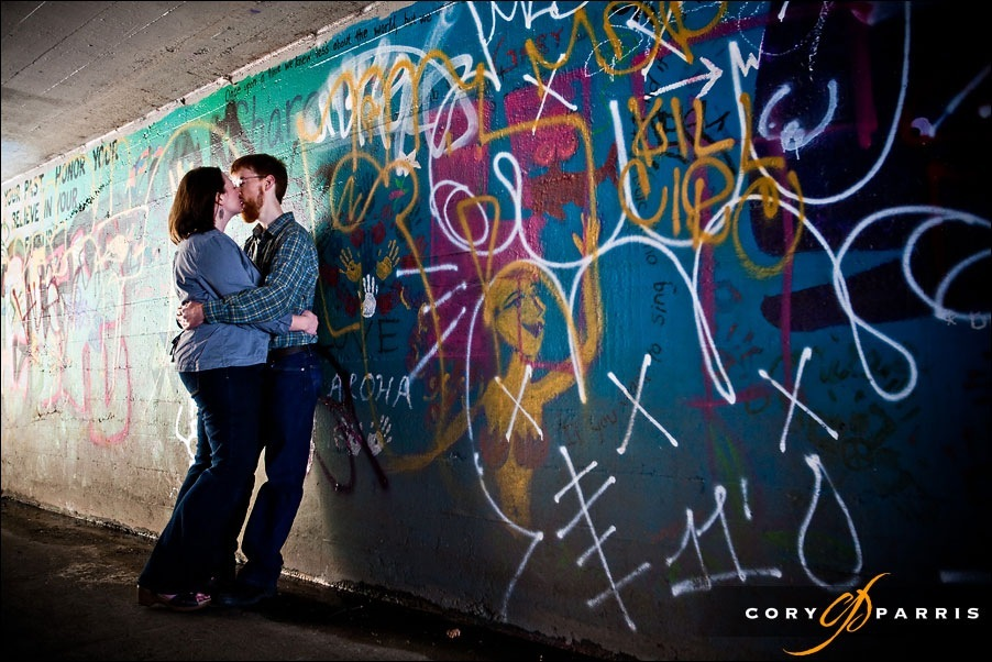 graphiti engagement portrait in seattle