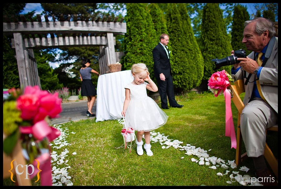 tough to be a flower girl by seattle wedding photographer cory parris