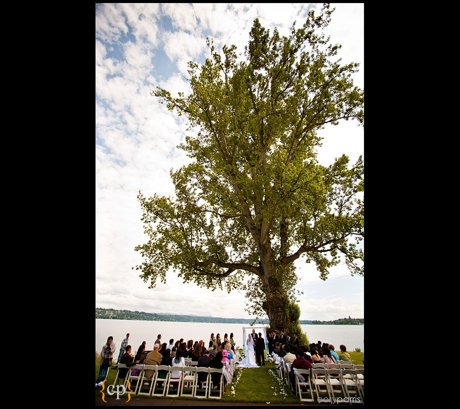 seattle wedding ceremony at Colman Park