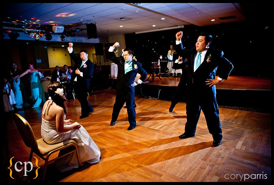 groom dancing for the bride at tea palace in renton