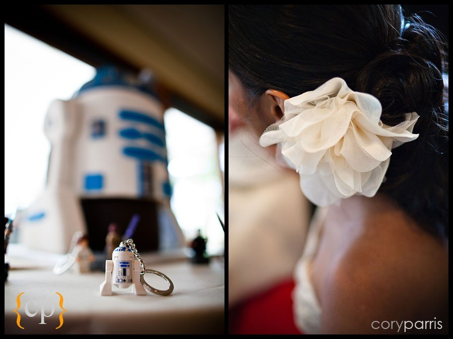 R2-D2 in lego and cake
