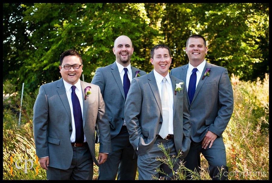 groomsmen in woodinville by seattle wedding photographer cory parris