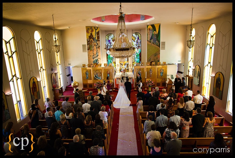 wedding at the greek orthodox church of the assumption by seattle wedding photographer cory parris