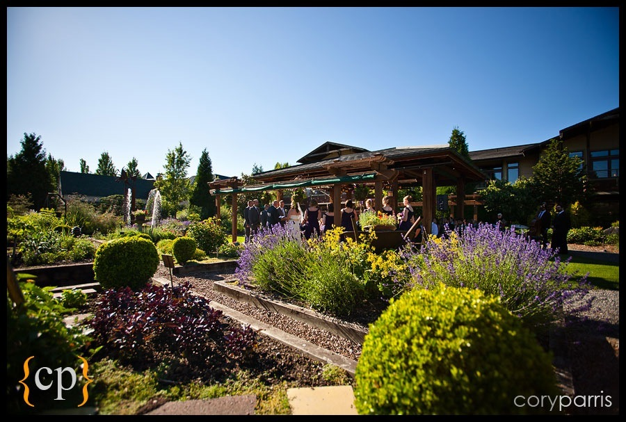 wedding ceremony at willows lodge in woodinville
