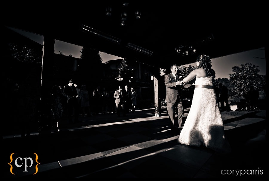first dance at willows lodge by seattle wedding photojournalist cory parris