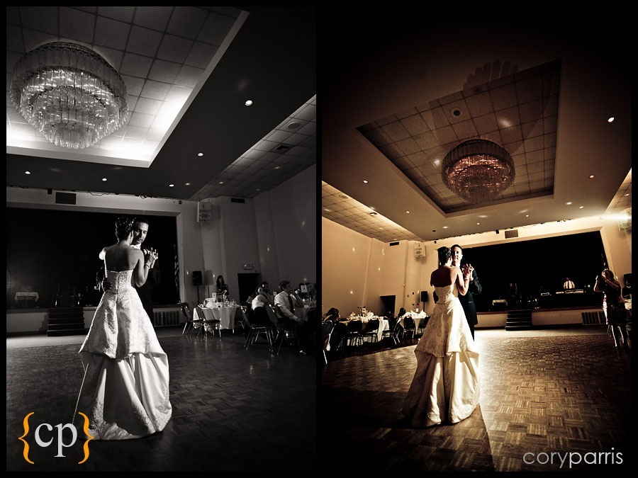 First dance at saint demetrios church in seattle by seattle wedding photojournalist cory parris