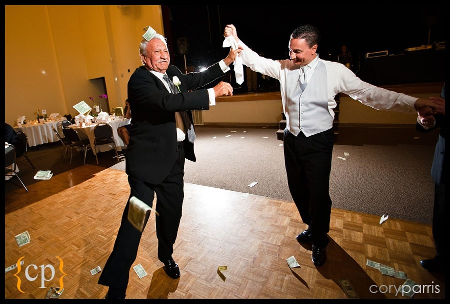 greek dancing at saint demetrios in seattle with cash flying