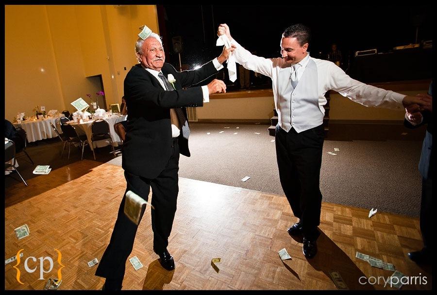 greek dancing at saint demetrios in seattle with cash flying