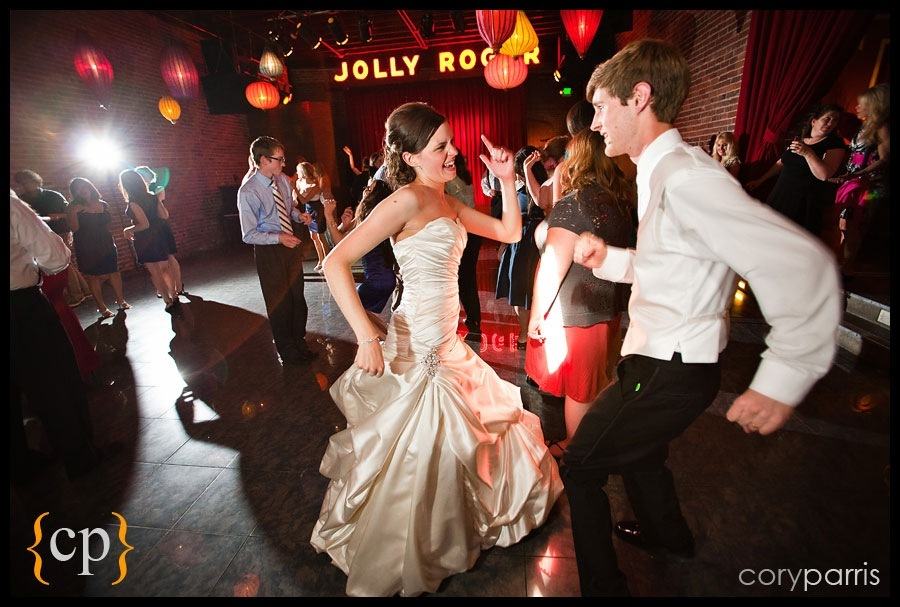 bride and groom dancing at the georgetown ballroom in Seattle