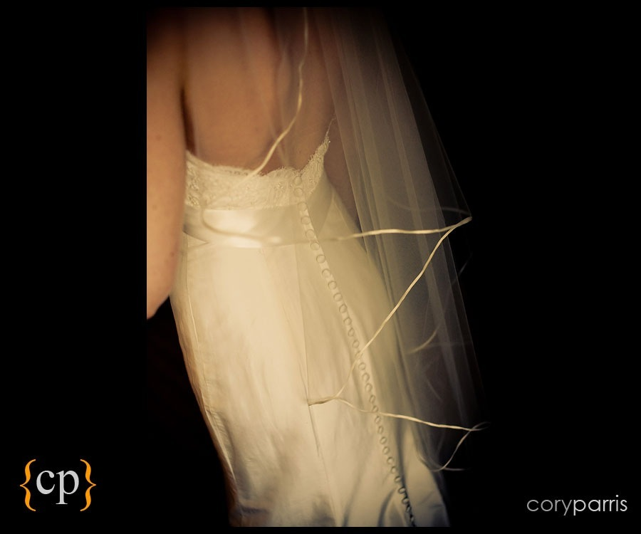 back of the wedding dress by seattle wedding photojournalist cory parris
