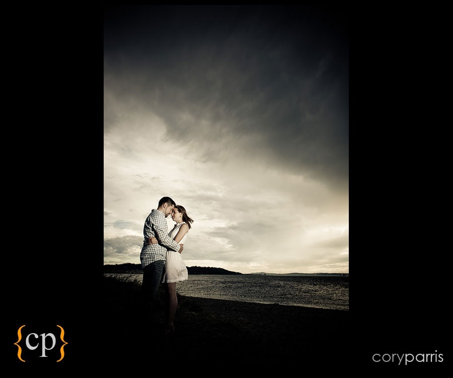 seattle wedding and portrait photographer cory parris couple portrait strobist