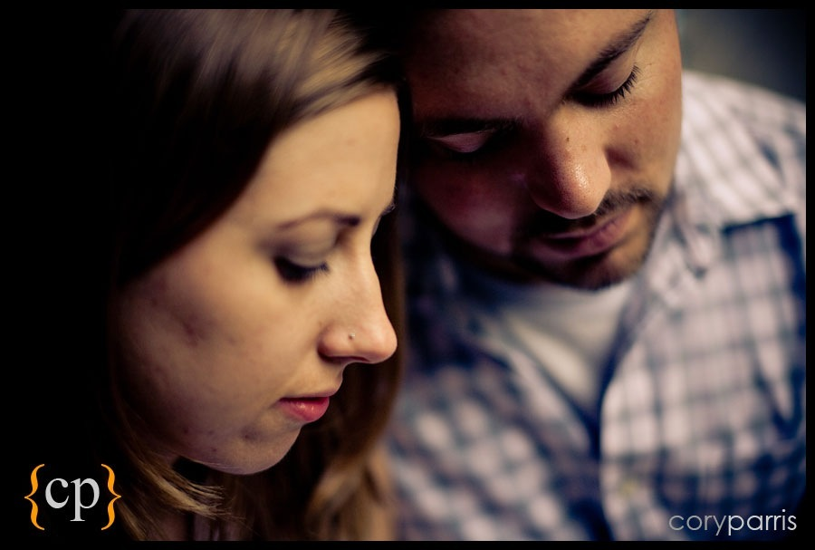 couple portrait with bokeh by seattle portrait photographer cory parris