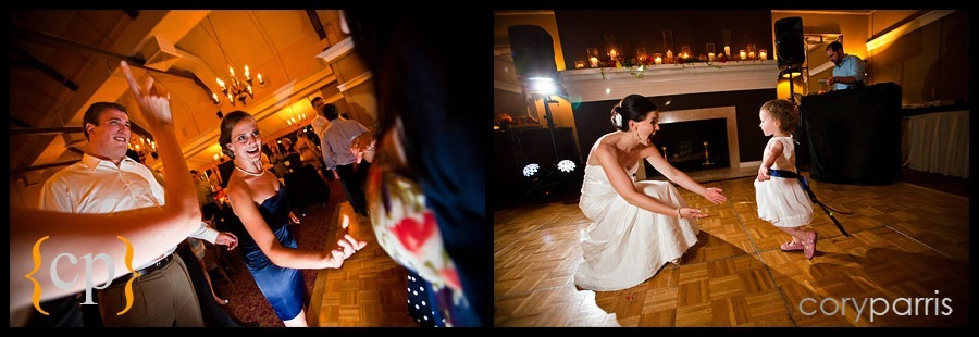 dancing at sand point country club wedding in seattle'