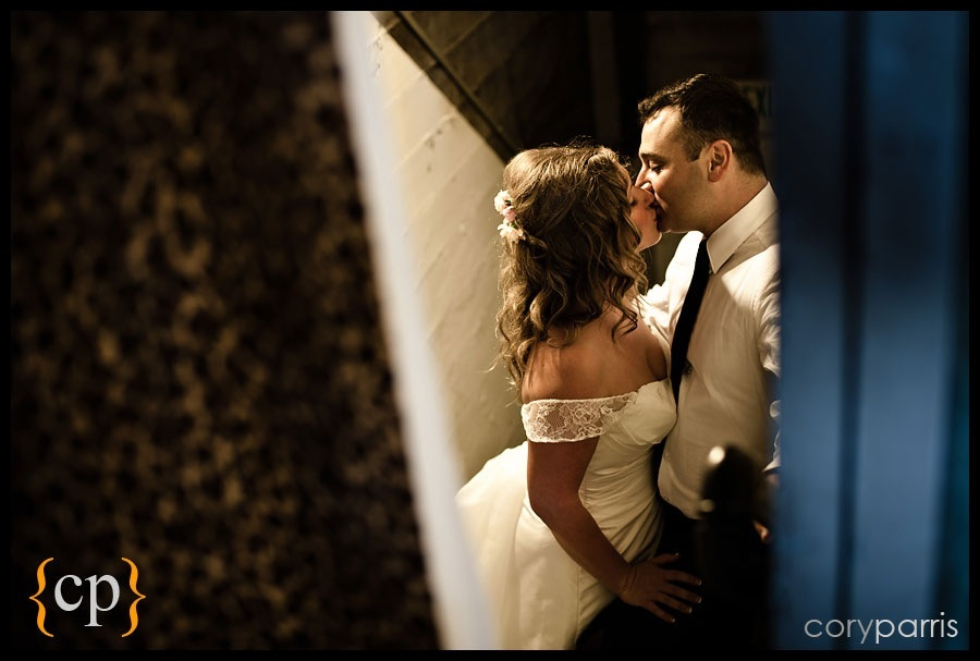 couple portrait underneath the lake union cafe by seattle wedding photographer cory parris