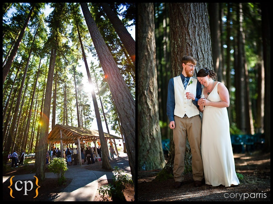 wedding at kitsap memorial park by seattle wedding photojournalist cory parris