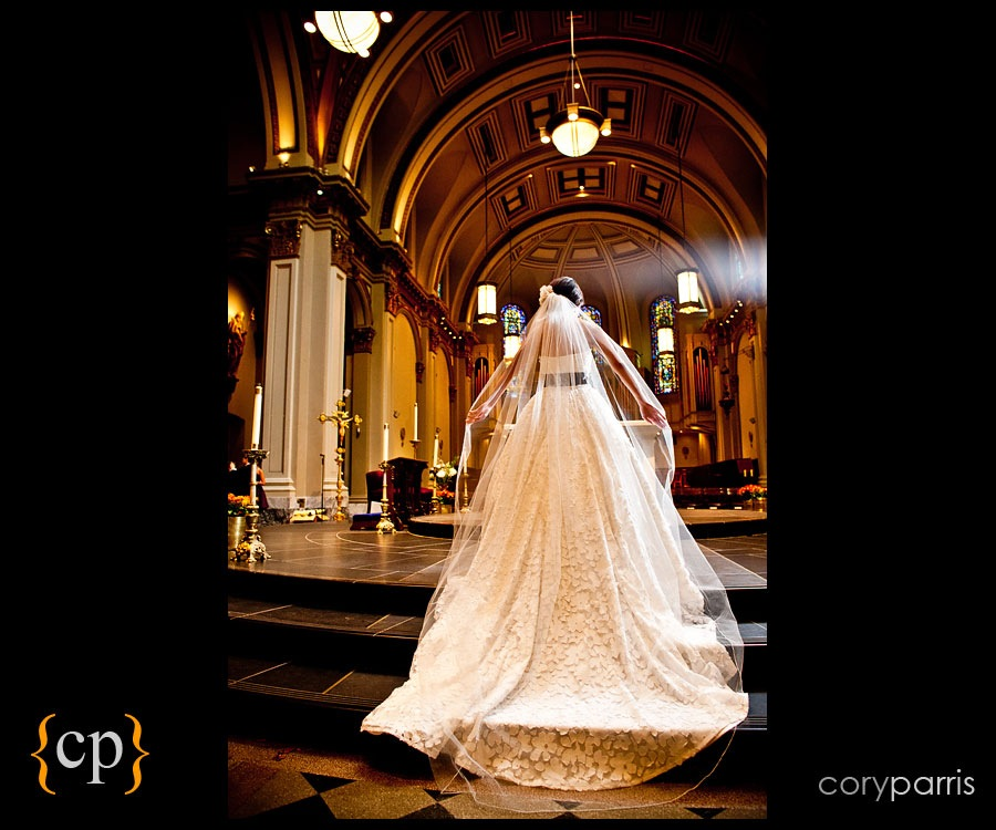 Bridal portrait at St. James