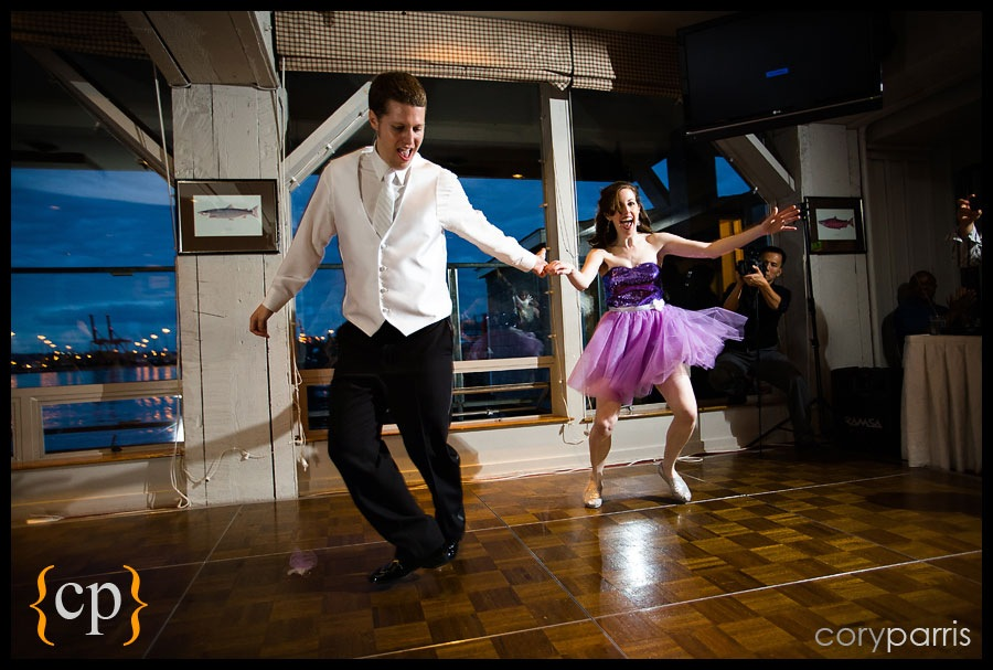 swing dance wedding at salty's by seattle wedding photographer cory parris