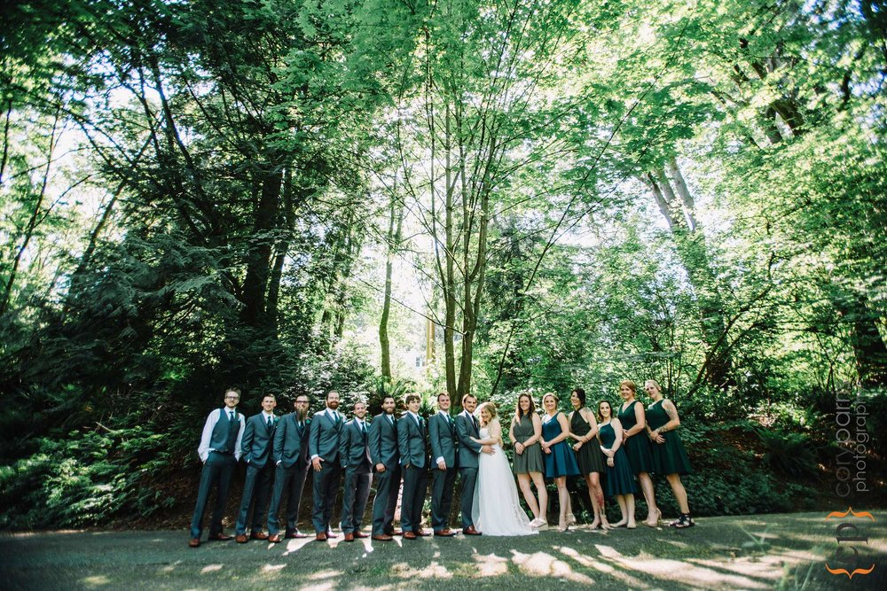 wedding party portrait in seattle