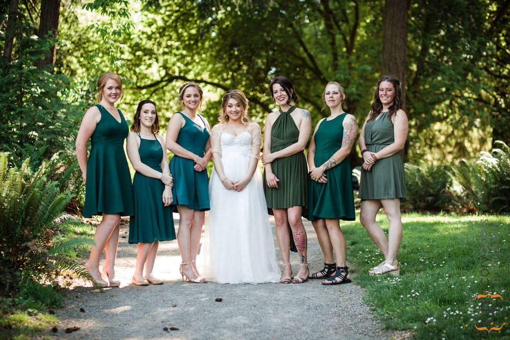 bridesmaids at washington park arboretum