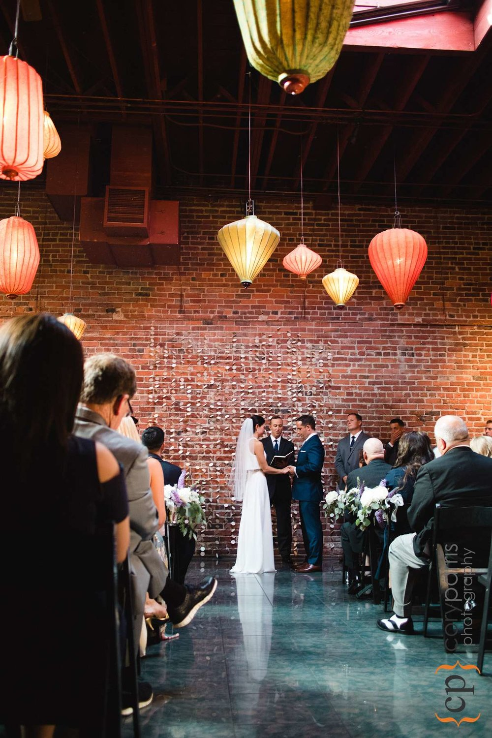 Wedding ceremony at the Georgetown Ballroom. Photo by Alyssa Parris.