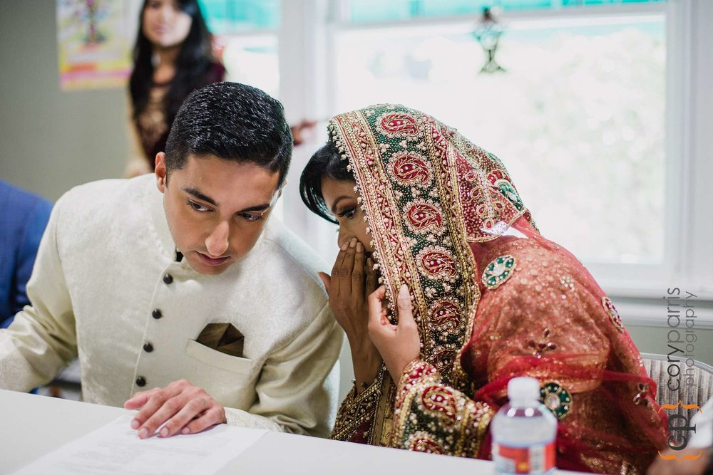 Alam and Farah during their wedding ceremony.