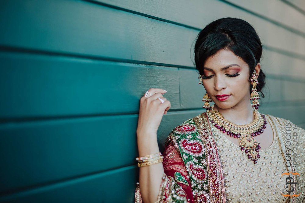 Indian bride portrait seattle