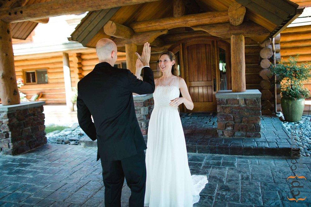 Karen and David's high five